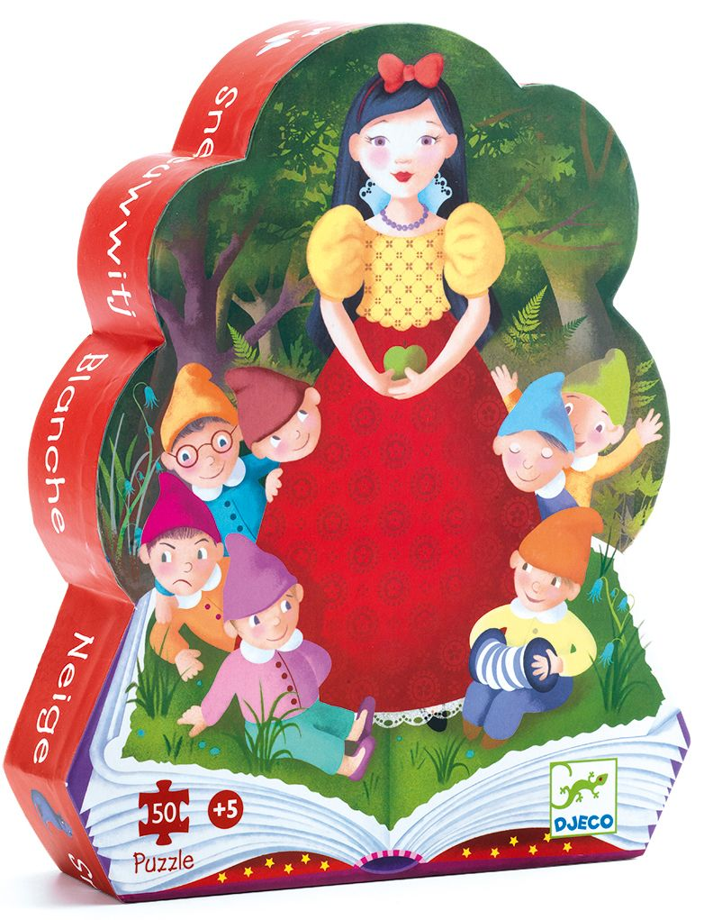Puzzles silhouettes Blanche neige - 50 pcs Djeco